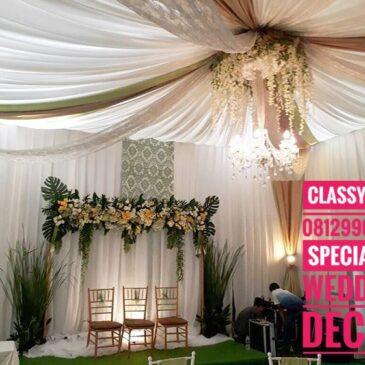 Dekorasi Lamaran model baru Classy Tent