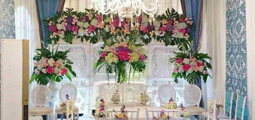 Background Bunga Dekorasi Pelaminan Classy Tent